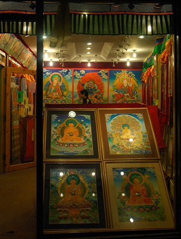 Art shop Boudha_Stupa_Kathmandu_Nepal