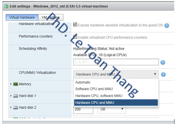 Làm thế nào để cài đặt/chạy Hyper-V máy chủ như là một VM lồng